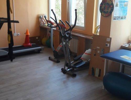 Обновявания в залата по кинезитерапия в ЦСРИ Белене